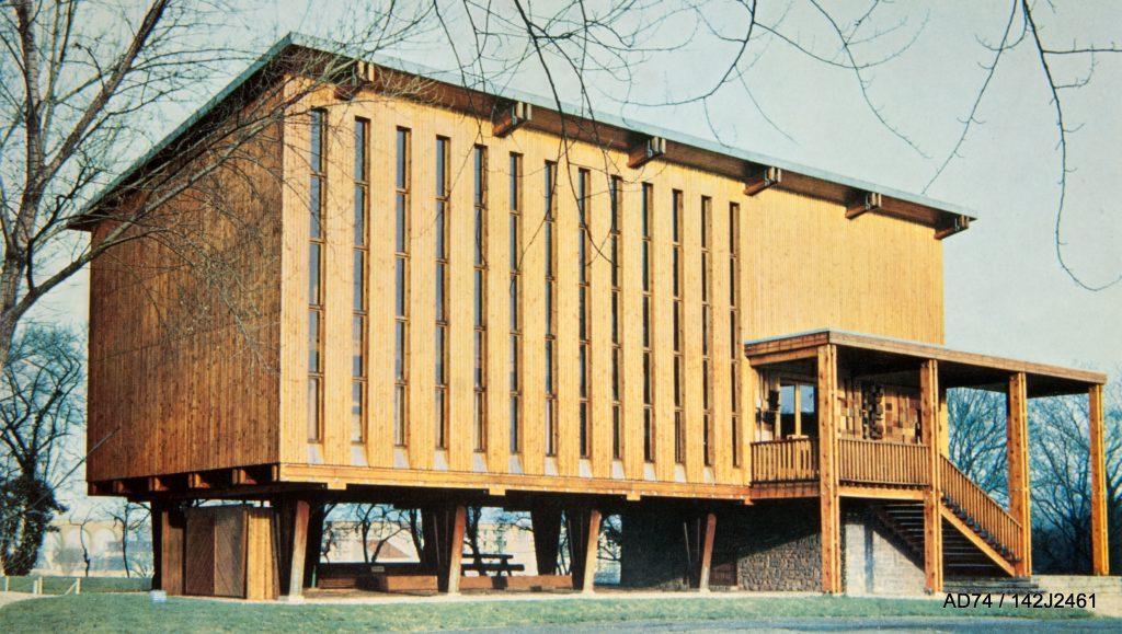 Pavillon du Bois à l'École des travaux publics, fin des années 1950 – Cachan (94)