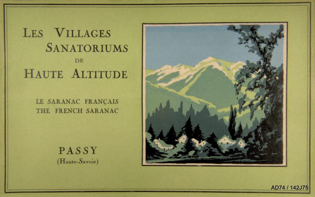 Couverture d'un livret de présentation de l'association des Villages Sanatoriums de Haute Altitude, 1923