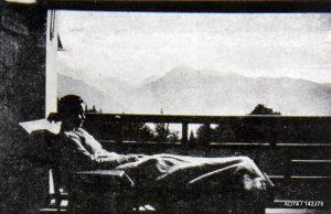Extrait de la couverture d'un livret de présentation de l'association des Villages Sanatoriums de Haute Altitude, 1923
